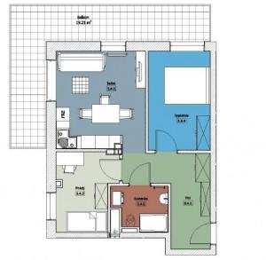 3 pokoje krzyki