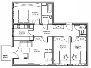 mieszkanie 4 pokoje