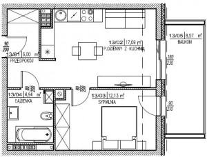 2 pokoje MDM