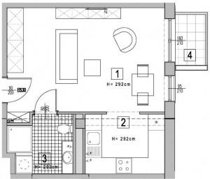 Apartament rzut